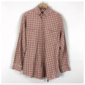 Orvis Red Plaid Long Sleeve Button Down Shirt